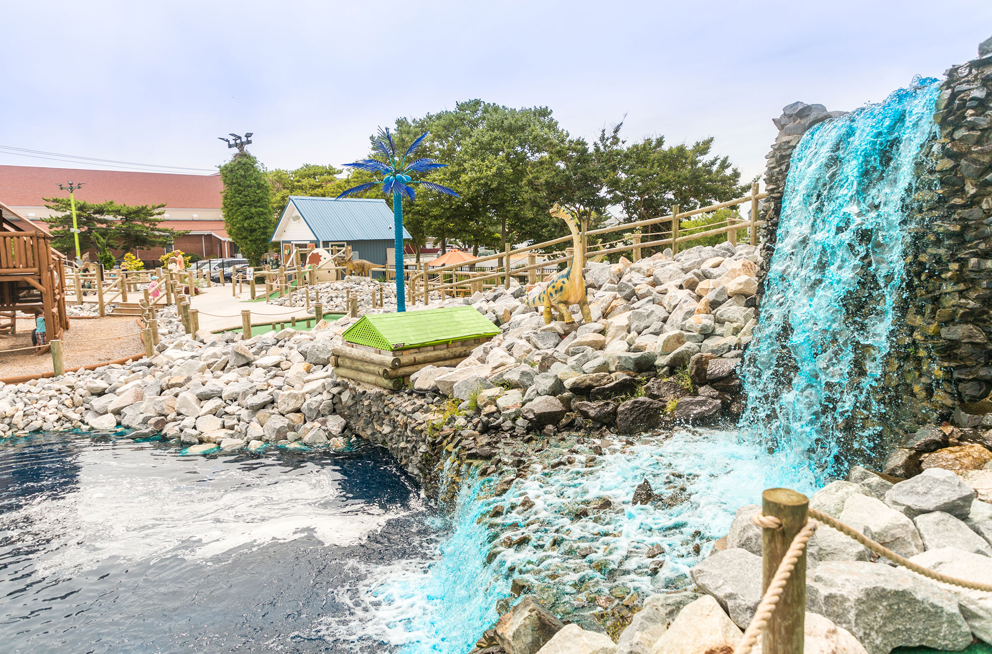 Waterfall at the mini golf course